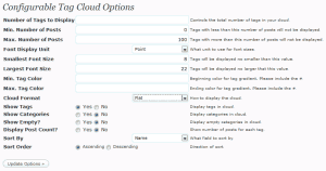 Konfigurowalna chmurka tagów dla WordPressa