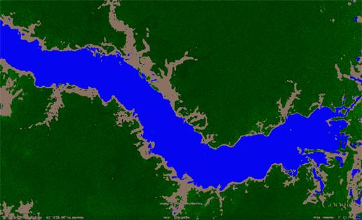 Pożar lasu - przetworzone zdjęcie satelitarne Amazonki