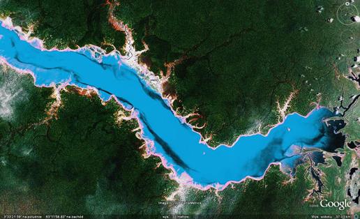 Pożar lasu - zdjęcie satelitarne Amazonki