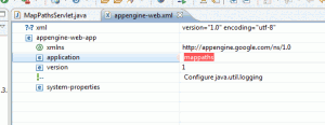 appengine-web.xml - ustawianie nazwy projektu