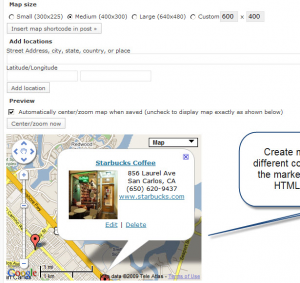 WP Plugin MapPress Easy Google Maps