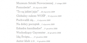 WP Plugin PostLists w użyciu