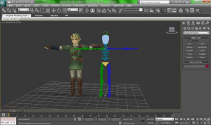 Multi agent simulation 2 - agent  3ds max biped