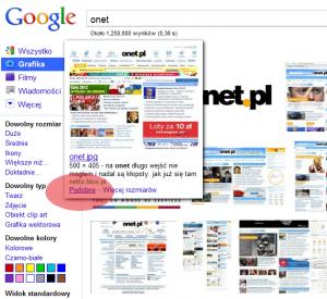 Google wyszukiwanie podobnej grafiki