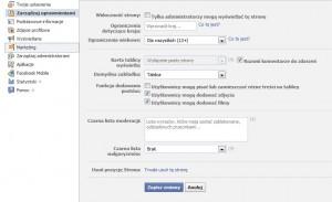 Facebook Fun Page - Zarządzaj uprawnieniami